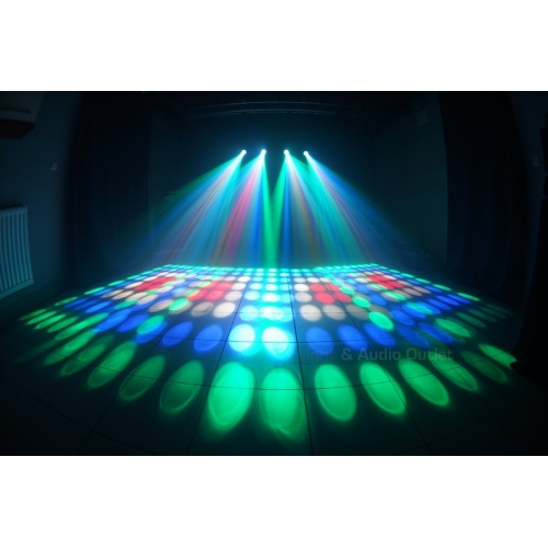 4 SZTUKI COLORSTAGE NEW LED DRUM FLOWER V3 RGBW PLUS STATYW POKROWIEC
