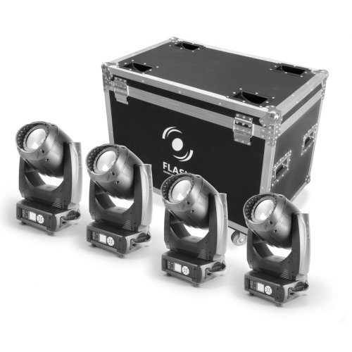 FLASH 4x LED MOVING HEAD 200W CMY WASH + CASE