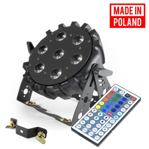 LED PAR 64 SLIM 7x10W MK2 RGBW MADE IN POLAND FLASH PILOT