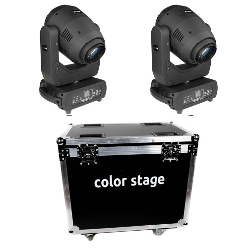 ZESTAW 2x GŁOWA RUCHOMA COLORSTAGE HORNET LED 250W 3in1 ZOOM BEAM SPOT WASH + CASE